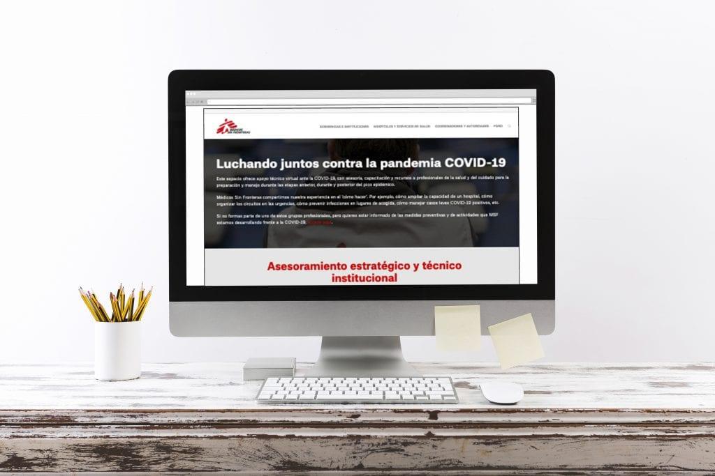 Plataforma de formación online sobre COVID-19 de Médicos Sin Fronteras