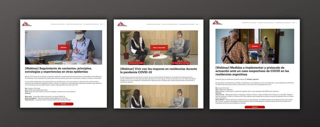 Plataforma de formación online para Médicos Sin Fronteras